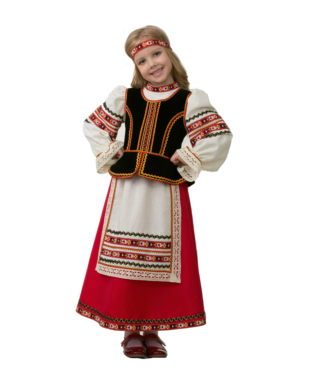 Батик Костюм карнавальный для девочки Славянский костюм размер 34 костюм озорного клоуна детский 32 34