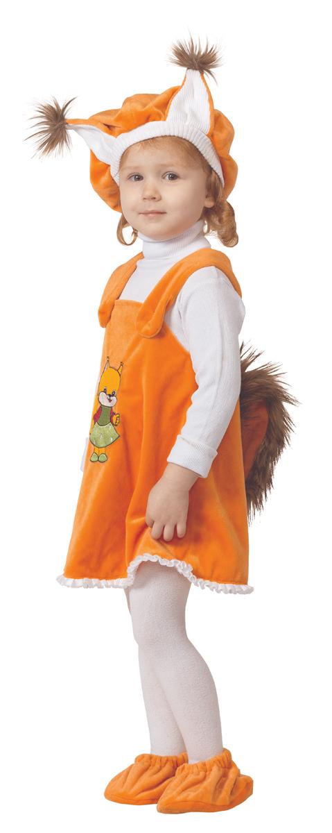 Батик Костюм карнавальный для девочки Белочка размер 26 батик карнавальный костюм капитан флинт