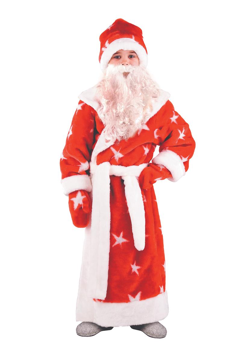 Батик Костюм карнавальный для мальчика Дед Мороз размер 34 дед мороз в синем 30 см мех муз песня в лесу родилась елочка