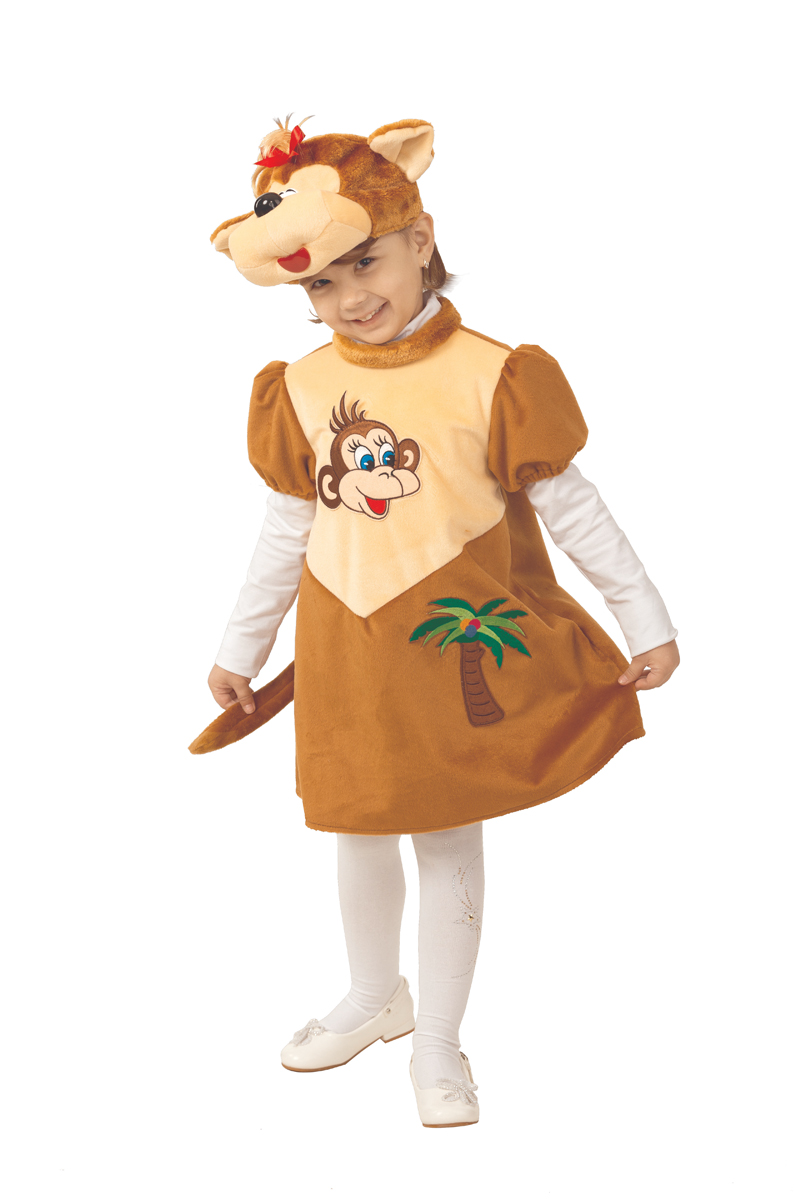 Батик Костюм карнавальный для девочки Обезьянка Лиана размер 26-28 батик костюм карнавальный ежик размер 28
