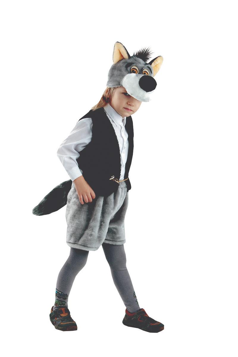 Батик Костюм карнавальный для мальчика Волк Семен размер 28 костюм волка для мальчика