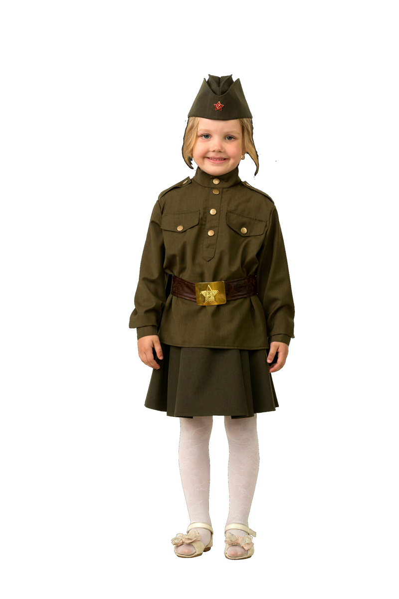 Батик Костюм карнавальный для девочки Солдатка размер 38
