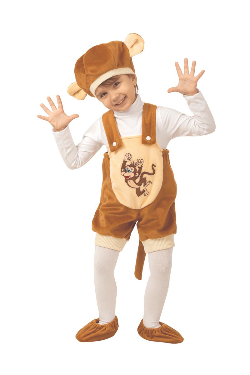 Батик Костюм карнавальный для мальчика Обезьянка Кроха размер 26 серьги веселые обезьянки