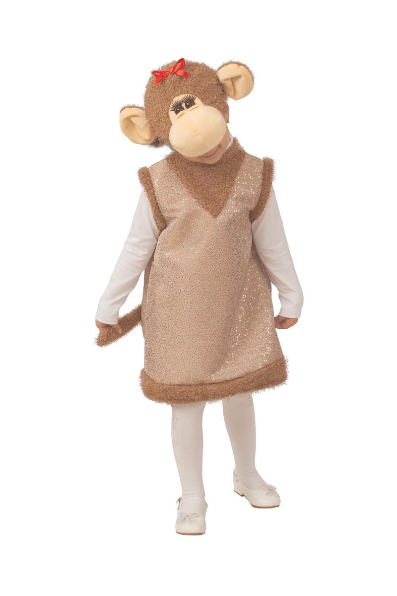 Батик Костюм карнавальный для девочки Обезьянка Дафна размер 26-28 костюм маленькой обезьянки для мальчиков 32 34
