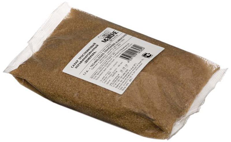 Maitre de Sucre сахар Демерара тростниковый нерафинированный, 800 г maitre сахар леденцовый кристаллический прозрачный 800 г