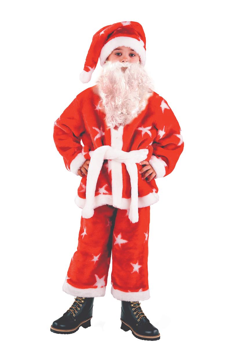 Батик Костюм карнавальный для мальчика Санта Клаус размер 36 детский костюм шута 36