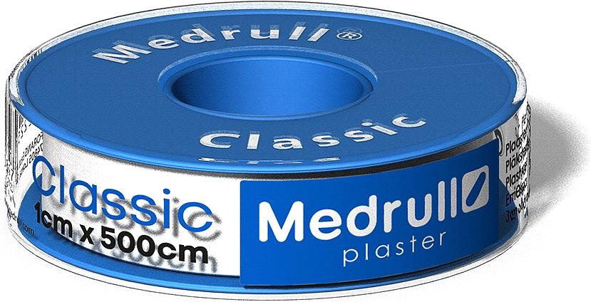 Medrull Лейкопластырь рулонный на текстильной основе Classic, 1 см x 5 м4742225000897Пластырь Classic в руллончике белого цвета. Состав: 100% хлопок. Структура материала: Текстильная полоска на цинк – оксидной основе. Упакован в индивидуальную упаковку + небольшая коробка для аптек или торговых точек.