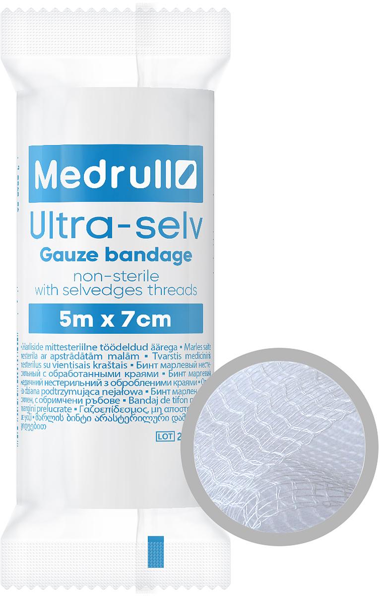 Medrull Бинт марлевый нестерильный Ultra-selv, 5 м х 7 см