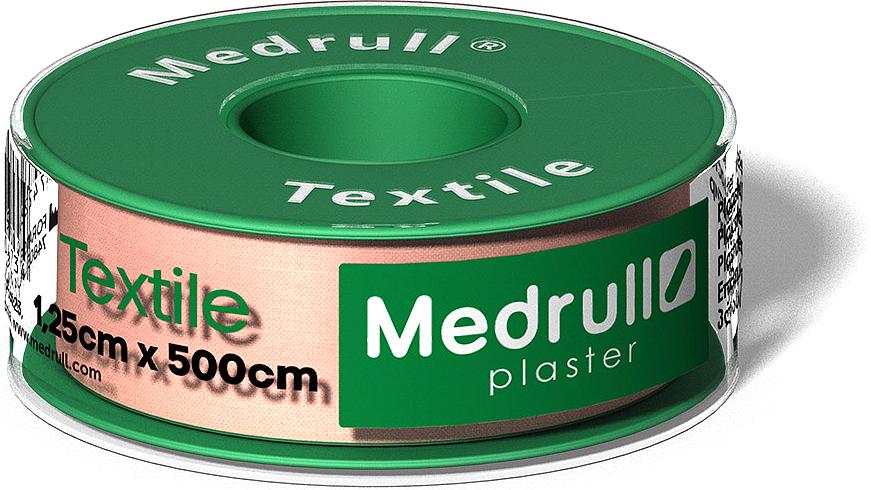 Medrull Лейкопластырь рулонный на текстильной основе Textile, 1,25 см x 5 м