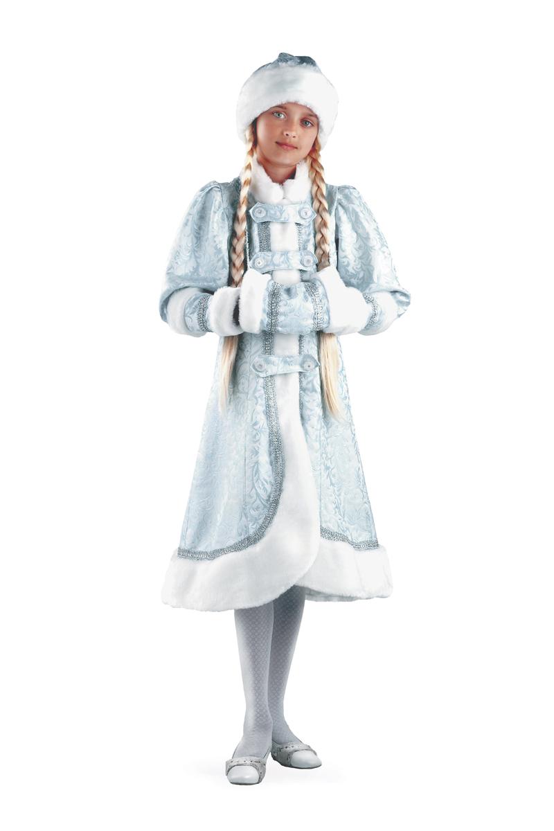 Батик Костюм карнавальный для девочки Снегурочка Княжеская размер 36 детский костюм шута 36