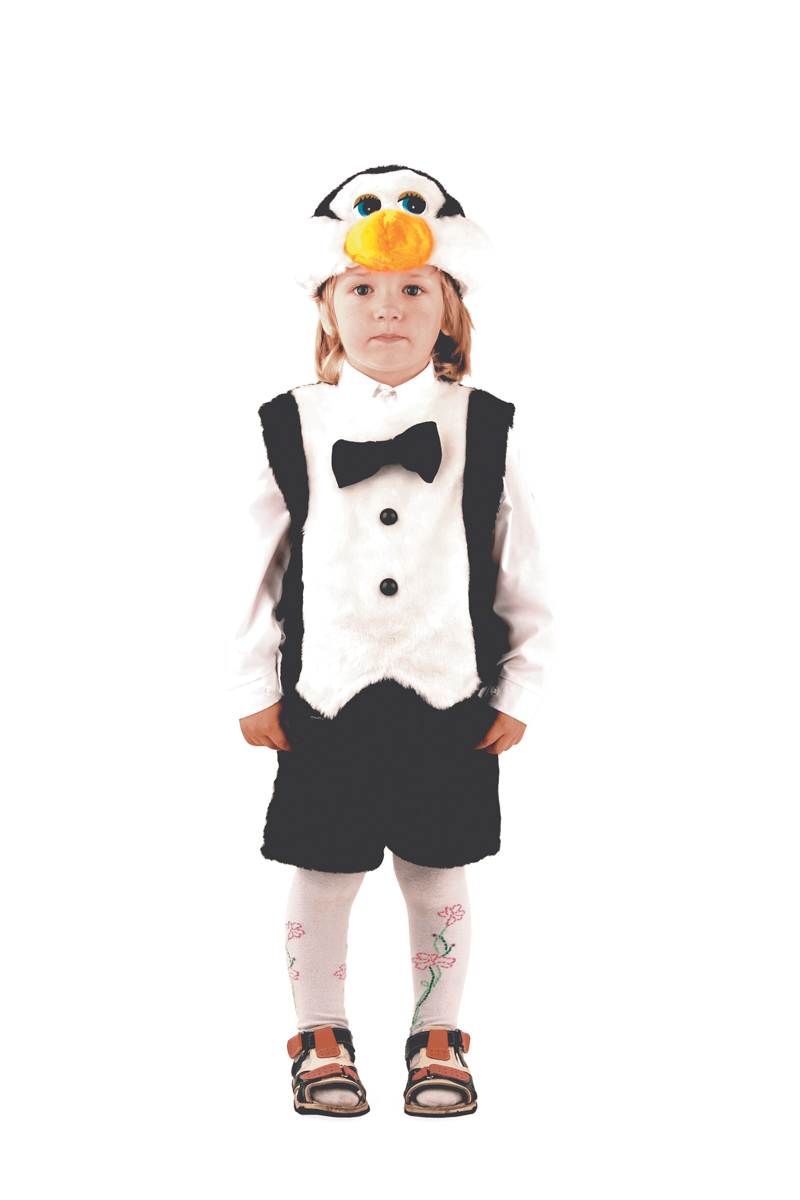 Батик Костюм карнавальный для мальчика Пингвин размер 28 батик костюм карнавальный ежик размер 28