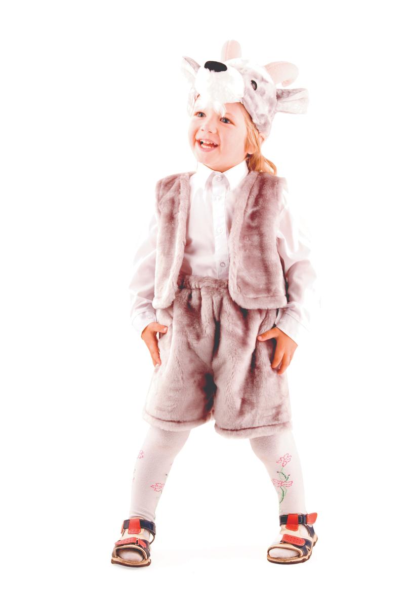 Батик Костюм карнавальный для мальчика Козлик цвет серый размер 28 оптом купить детские игрушки в москве