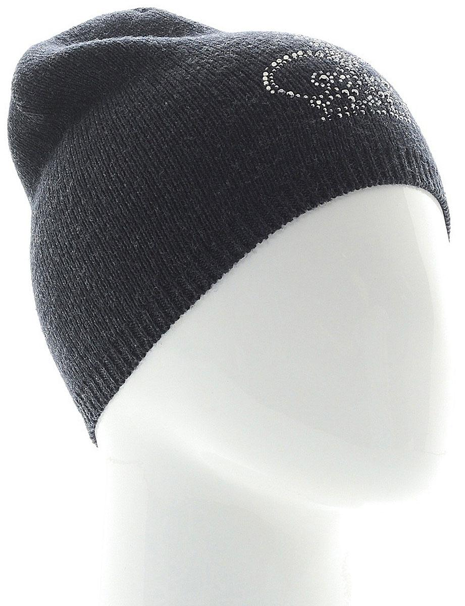 Шапка женская Vittorio Richi, цвет: темно-серый. NSH2261939F-44. Размер 58/60 шапка женская vittorio richi цвет коралловый nsh170778 размер 58 60