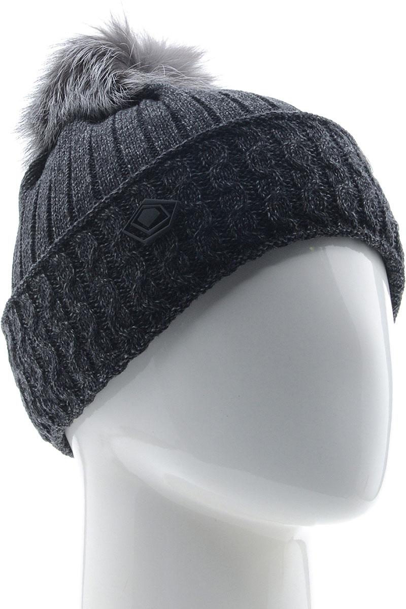 Шапка женская Vittorio Richi, цвет: темно-серый. NSH800167. Размер 58/60 шапка женская vittorio richi цвет коралловый nsh170778 размер 58 60