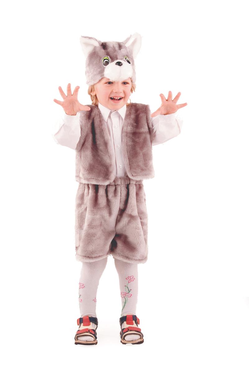 Батик Костюм карнавальный для мальчика Кот цвет серый размер 28 оптом купить детские игрушки в москве
