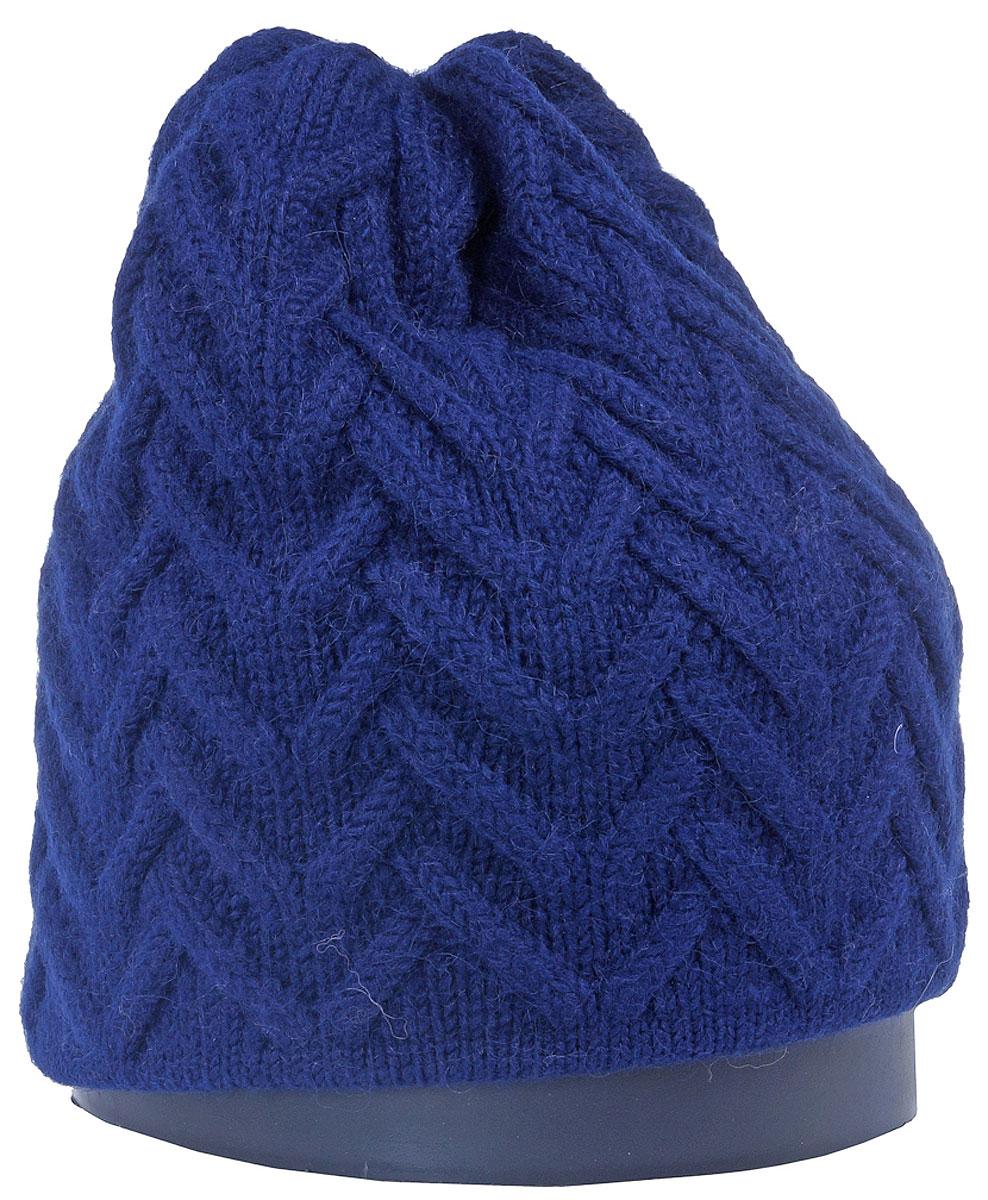 Шапка женская Vittorio Richi, цвет: темно-синий. Aut141936V-98/17. Размер 56/58Aut141936VСтильная женская шапка Vittorio Richi отлично дополнит ваш образ в холодную погоду. Модель, изготовленная из высококачественных материалов, максимально сохраняет тепло и обеспечивает удобную посадку. Шапка дополнена ажурной вязкой. Привлекательная стильная шапка подчеркнет ваш неповторимый стиль и индивидуальность.