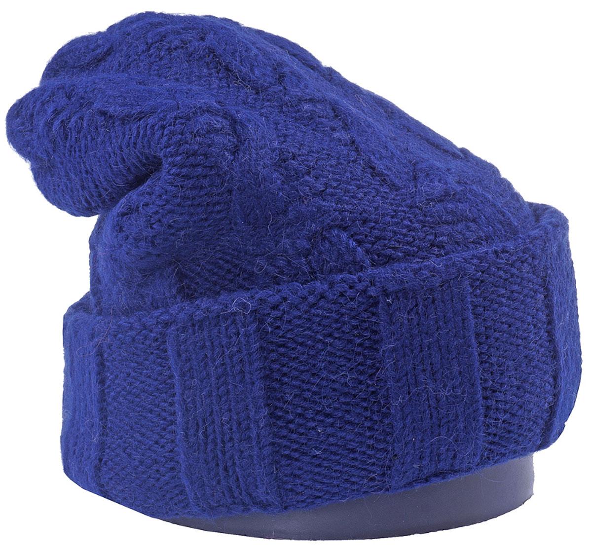 Шапка женская Vittorio Richi, цвет: темно-синий. Aut141937V-98/17. Размер 56/58Aut141937VСтильная женская шапка Vittorio Richi отлично дополнит ваш образ в холодную погоду. Модель, изготовленная из шерсти и акрила, максимально сохраняет тепло и обеспечивает удобную посадку. Шапка дополнена ажурной вязкой. Привлекательная стильная шапка подчеркнет ваш неповторимый стиль и индивидуальность.