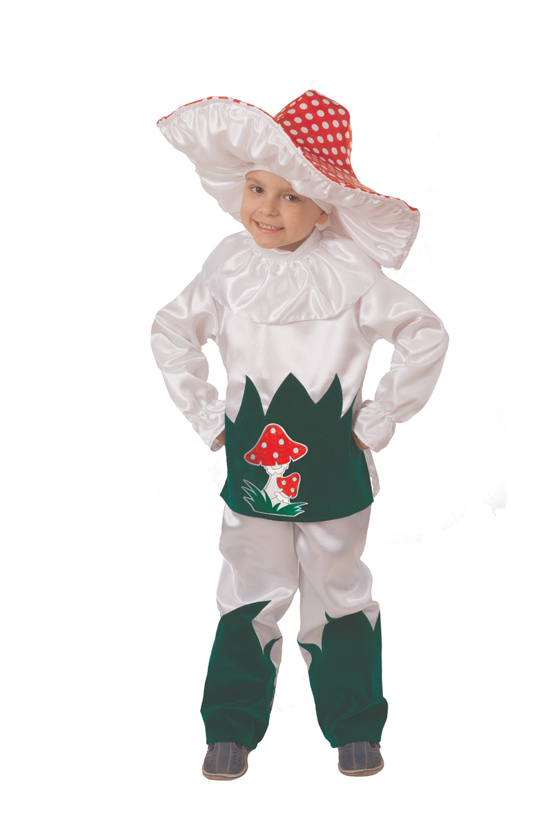 Батик Костюм карнавальный для мальчика Грибок размер 30 костюм волка для мальчика