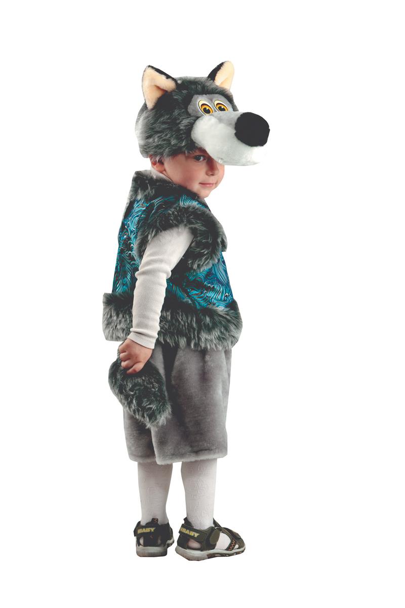 Батик Костюм карнавальный для мальчика Серый Волк размер 26-28 костюм волка для мальчика