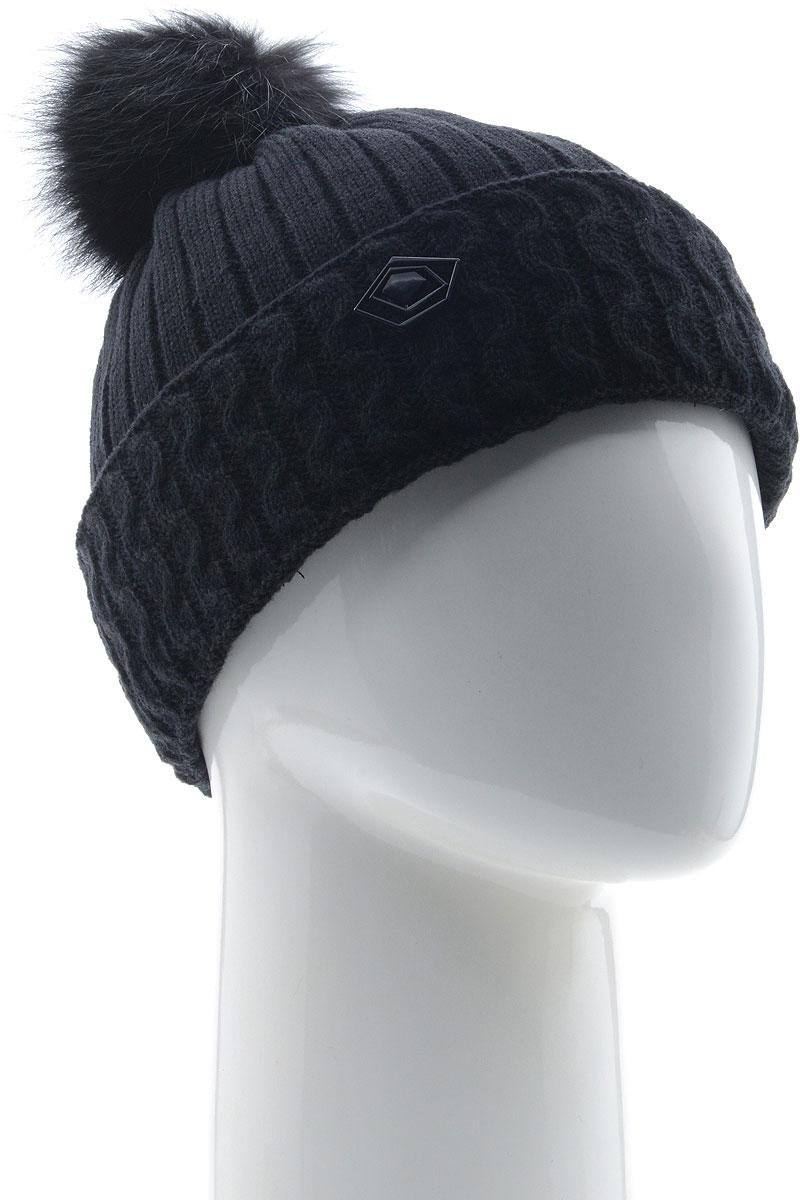 Шапка женская Vittorio Richi, цвет: черный. NSH800163. Размер 58/60 шапка женская vittorio richi цвет коралловый nsh170778 размер 58 60