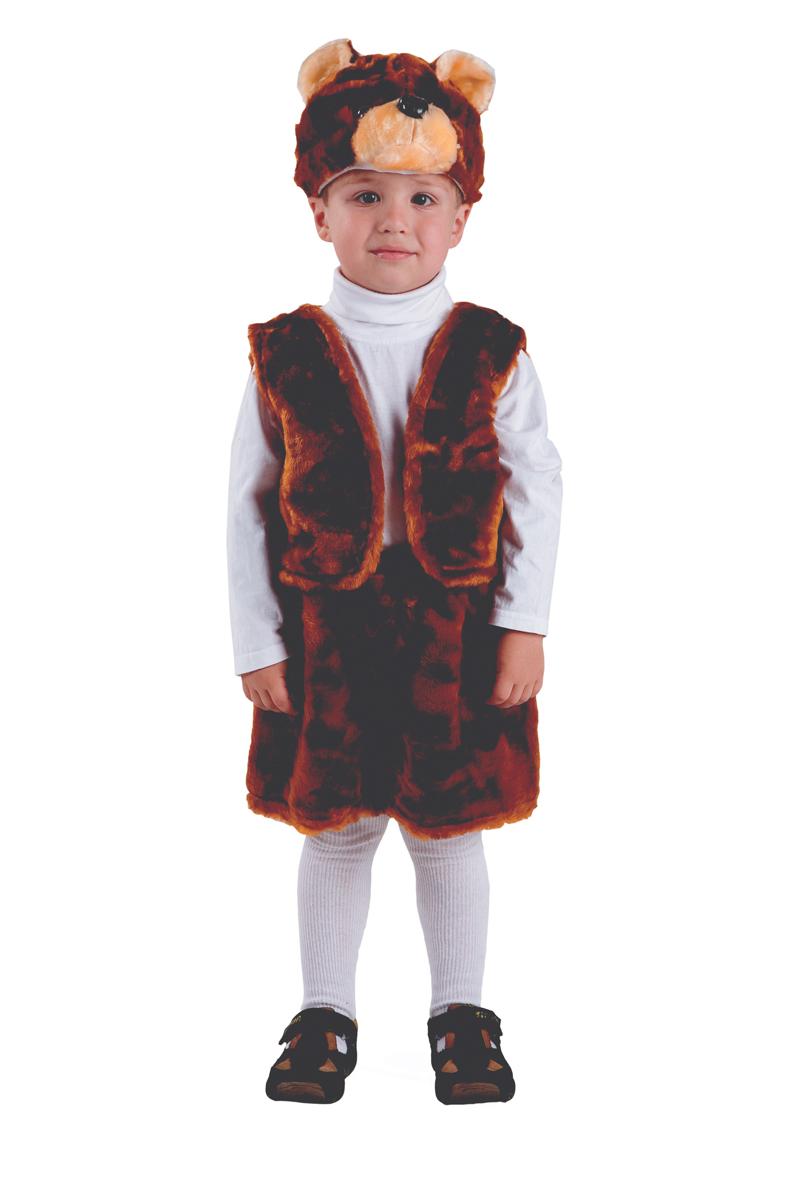 Батик Костюм карнавальный для мальчика Медведь бурый размер 28 детский костюм дарт мола 28 30