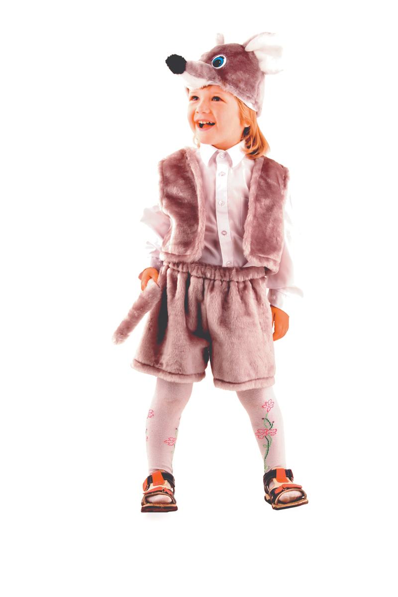 цена Батик Костюм карнавальный для мальчика Мышонок цвет серый размер 28 онлайн в 2017 году