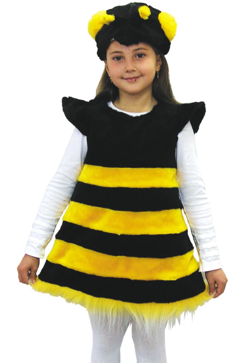 Батик Костюм карнавальный для девочки Пчелка цвет черный желтый размер 28 батик карнавальный костюм капитан флинт
