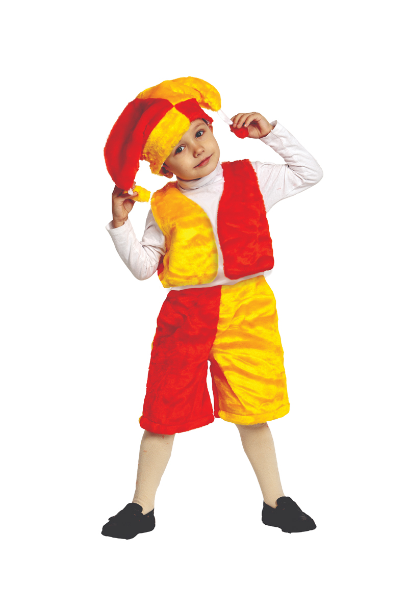 Батик Костюм карнавальный для мальчика Скоморох размер 28 детский костюм дарт мола 28 30