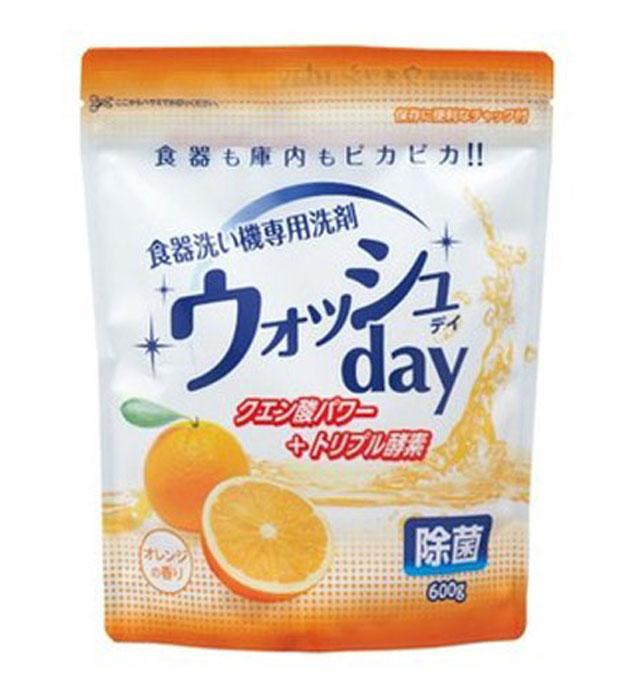 Средство для мытья посуды в посудомоечной машине Nihon Detergent, порошковое, с ароматом апельсина, 600 г827943Средство предназначено для мытья в посудомоечной машине изделий из стекла, фарфора, пластика, столовых приборов. Удаляет нагар, жир, налет, дезинфицирует. В состав входит 3 типа ферментов, благодаря чему средство позволяет эффективно отмыть посуду даже в быстром режиме, также смываются присохшие к посуде загрязнения, такие как крупы, творог, яйца и прочие белковые, крахмальные и жировые загрязнения которые обычно остаются даже после полного цикла в посудомоечной машине, если посуда не была предварительно омыта. Товар сертифицирован.