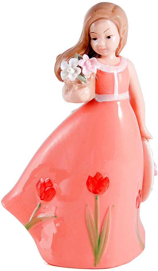 Статуэтка Принцесса, фарфор, 18 см, цвет: розовый10384Статуэтки из фарфора никогда не выйдут из моды, они по сей день украшают современный интерьер, вызывают интерес у коллекционеров и считаются антиквариатом.