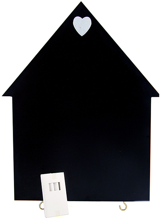 Доска грифельная, с держателем для журналов, 2 крючками, мелом, 30 x 38 см, цвет: черный29902Грифельная доска, это не только необычный способ украсить современный интерьер, но и с практичной точки зрения это незаменимая вещь в детской комнате и на кухне.