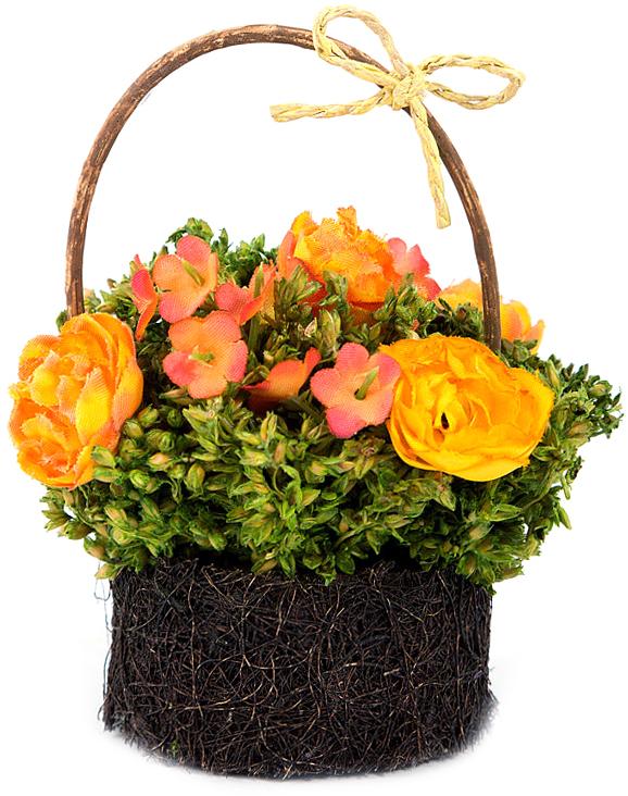 Композиция цветочная NoName, высота 10 см. 79045;7904579045Цветочная композиция - это прекрасная возможность украсить, оживить любой интерьер.