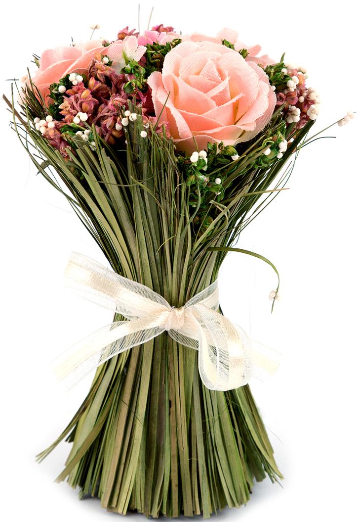 Композиция цветочная, диаметр 8 см, 13 см, цвет: розовый79067Цветочная композиция - это прекрасная возможность украсить, оживить любой интерьер.