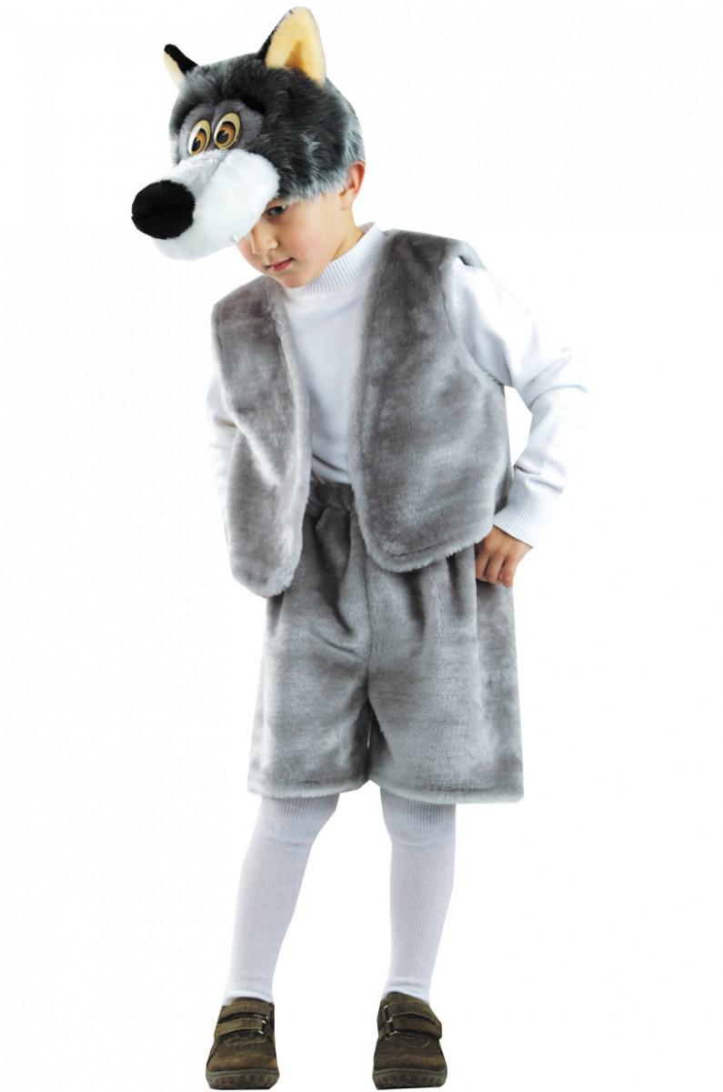 Батик Костюм карнавальный для мальчика Волк Прохор размер 30-32 костюм волка для мальчика
