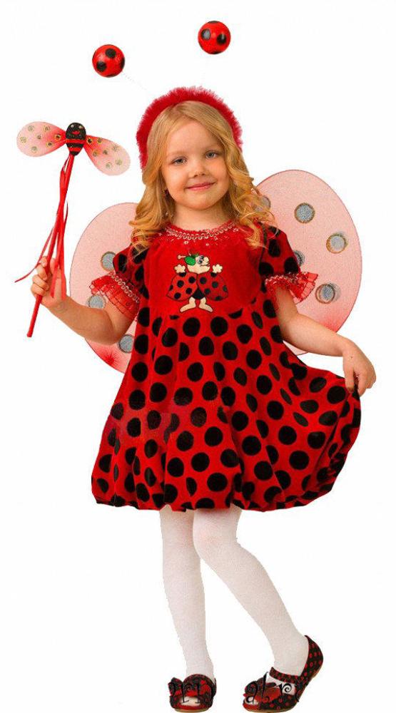 все цены на Батик Костюм карнавальный для девочки Божья Коровка размер 30 онлайн