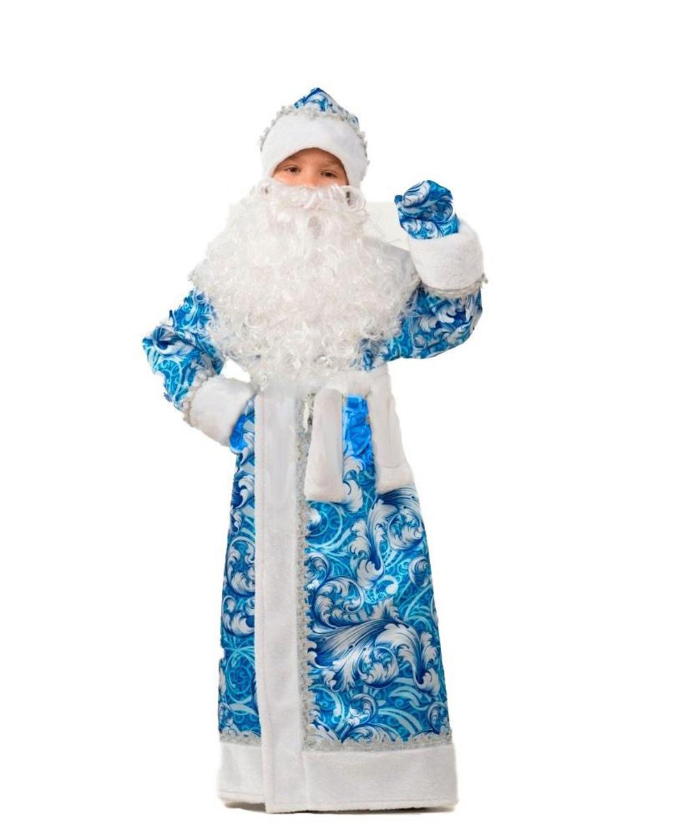 Батик Костюм карнавальный для мальчика Дед Мороз сказочный размер 34