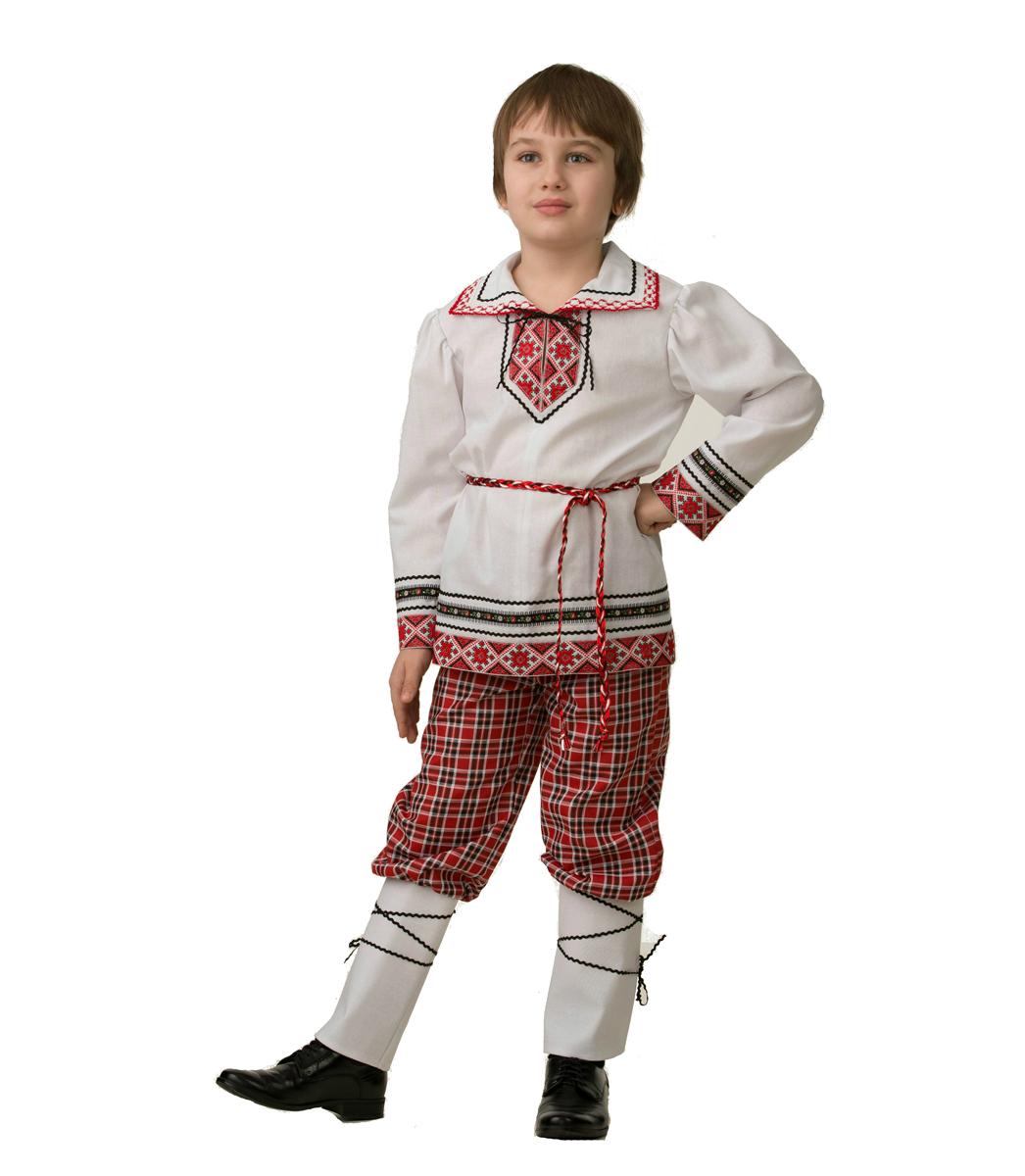 Батик Костюм карнавальный для мальчика Национальный костюм Рубашка Вышиванка размер 30