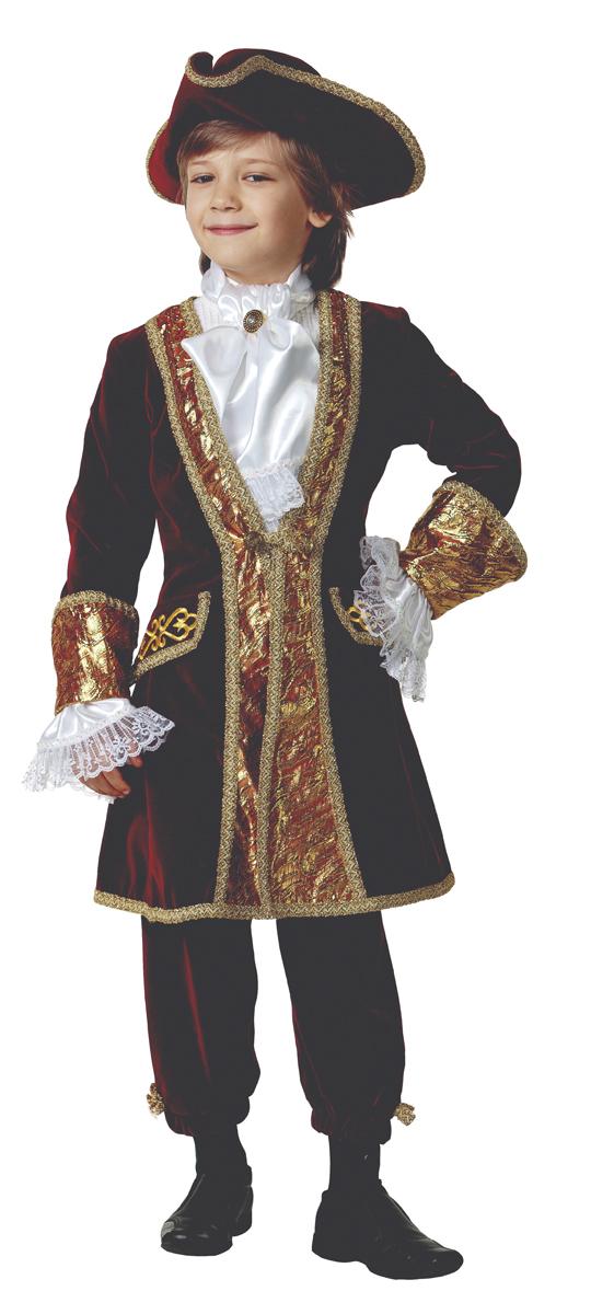 Батик Костюм карнавальный для мальчика Вельможа цвет бордовый размер 36 недорого