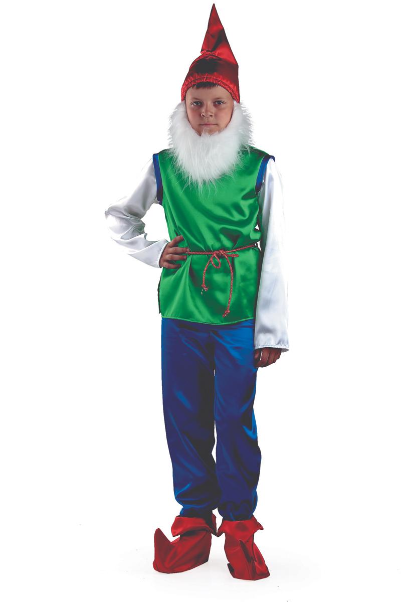 Батик Костюм карнавальный для мальчика Гном размер 34 детский костюм озорного клоуна 34