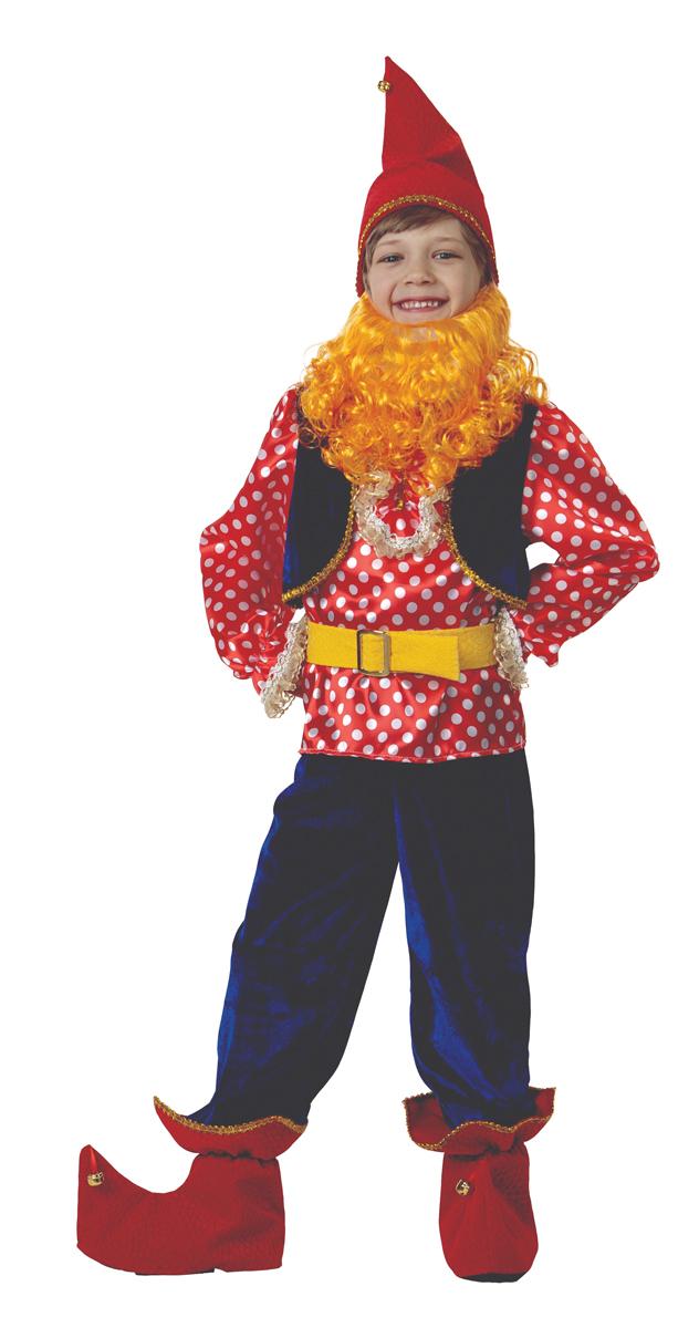 Батик Костюм карнавальный для мальчика Гном Весельчак размер 40