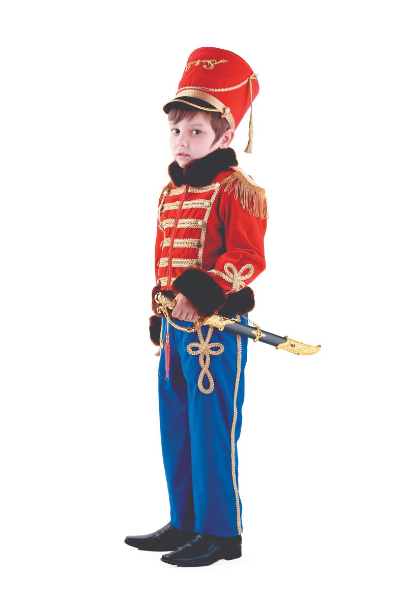 Батик Костюм карнавальный для мальчика Гусарский офицер размер 38 костюм зловещего шута детский 38 40