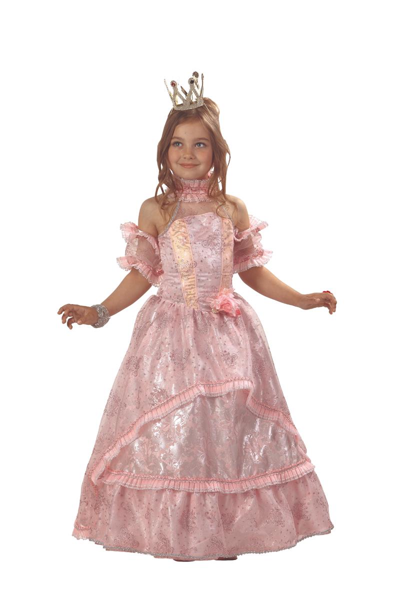 Батик Костюм карнавальный для девочки Золушка Принцесса цвет розовый размер 38 - Карнавальные костюмы и аксессуары