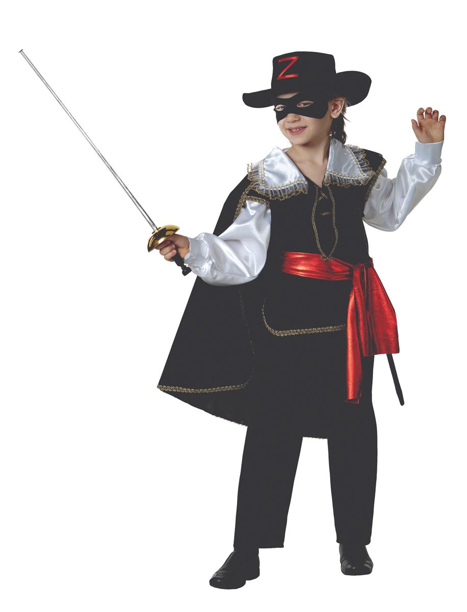 Батик Костюм карнавальный для мальчика Зорро цвет черный белый красный размер 36
