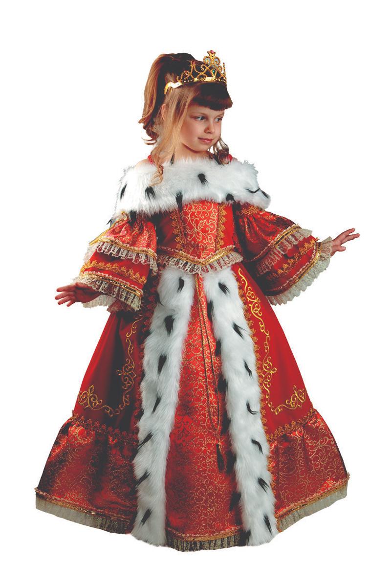 Батик Костюм карнавальный для девочки Императрица размер 32 костюм озорного клоуна детский 32 34