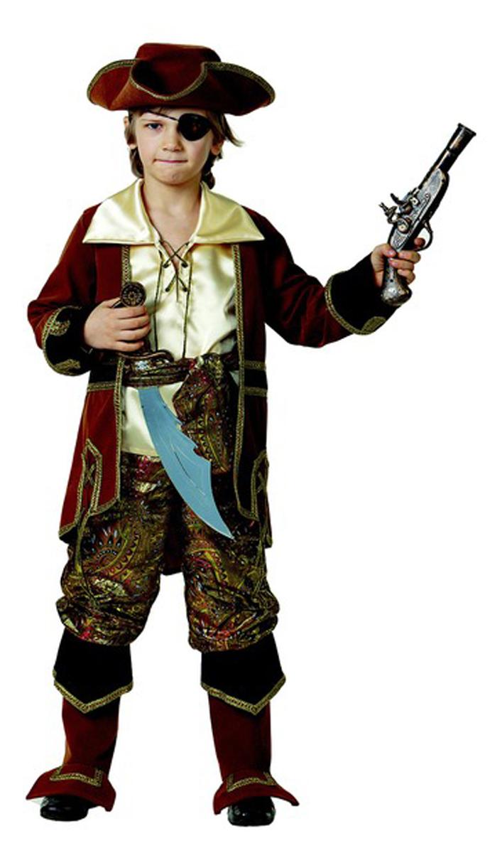 Батик Костюм карнавальный для мальчика Капитан пиратов цвет коричневый размер 40 батик карнавальный костюм капитан флинт