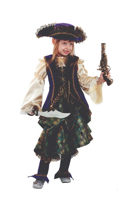 Батик Костюм карнавальный для девочки Капитанша размер 36 батик карнавальный костюм капитан флинт