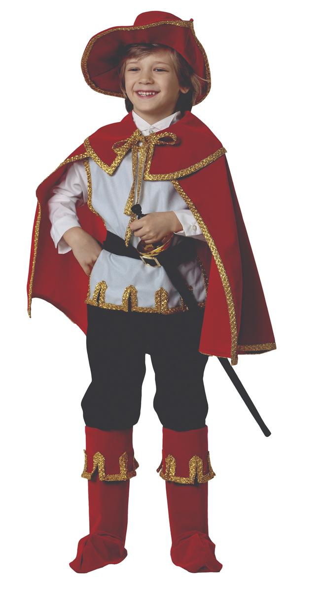 Батик Костюм карнавальный для мальчика Кот в сапогах цвет красный белый черный размер 40