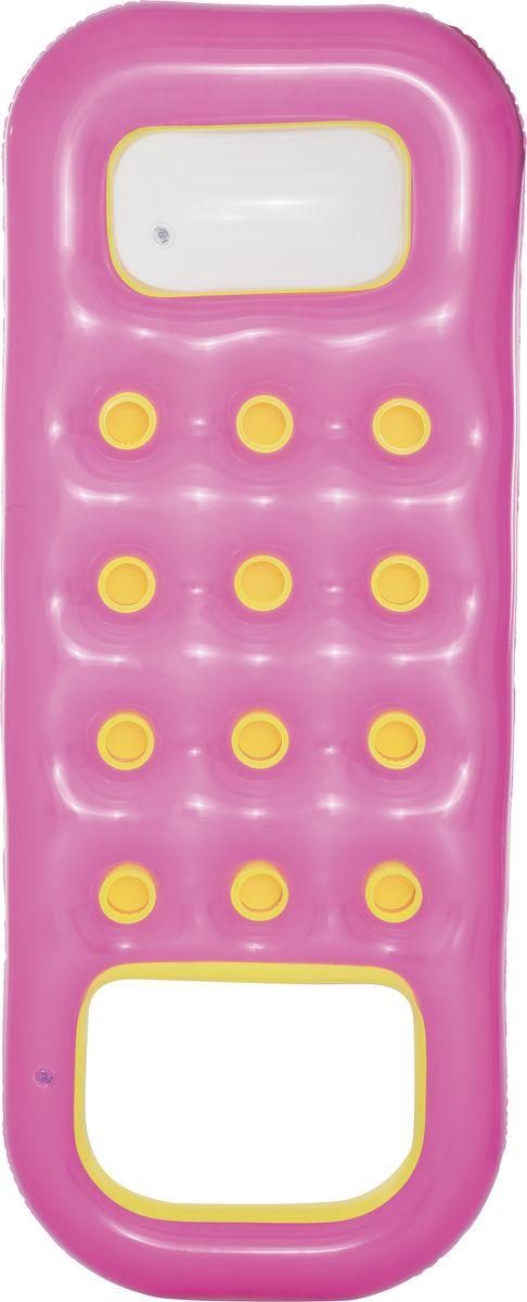 Bestway Матрас надувной с отверстием для охлаждения ног, цвет: розовый, 185 х 74 см