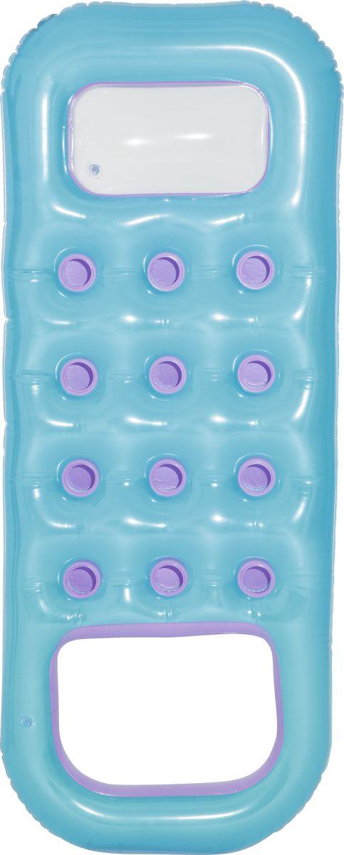 Bestway Матрас надувной, с отверстием для охлаждения ног, цвет: голубой, 185 х 74 см