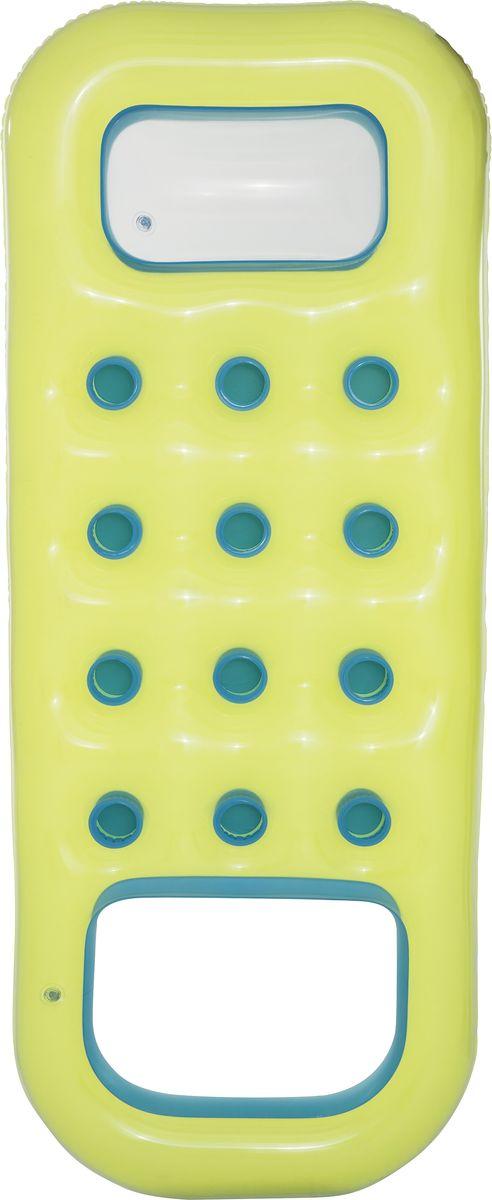 Bestway Матрас надувной, с отверстием для охлаждения ног, цвет: зеленый, 185 х 74 см